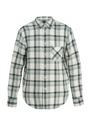 Beach plaid cotton-flannel shirt