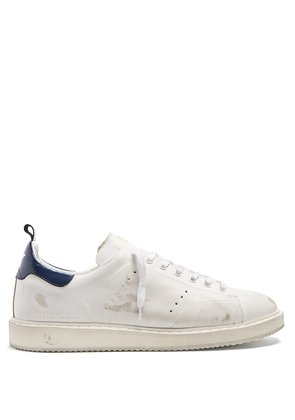Starter low-top leather trainers
