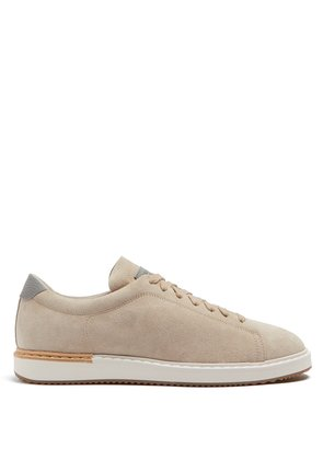 Low-top suede trainers