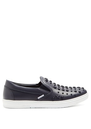 Grove star-embellished low-top leather trainers
