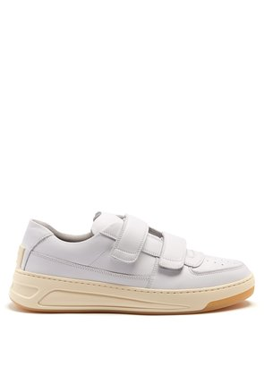 Perey low-top Velcro-strap leather trainers