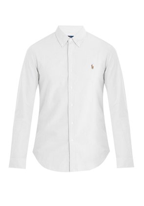 Logo-embroidered single-cuff cotton shirt