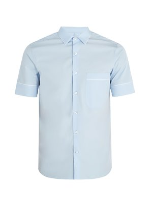 Contrast-piping cotton-poplin shirt