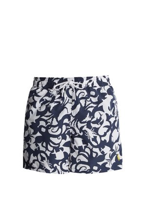 Underwater-print swim shorts