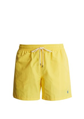 Logo-embroidered swim shorts