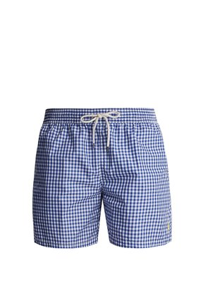 Gingham swim shorts