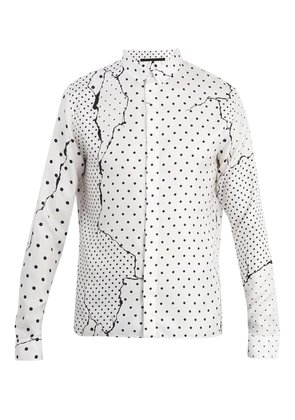 Abstract polka-dot silk shirt
