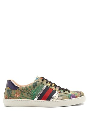 New Ace canvas low-top trainers