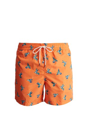 Traveller hummingbird-print swim shorts