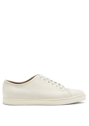 Levah low-top grained-leather trainers