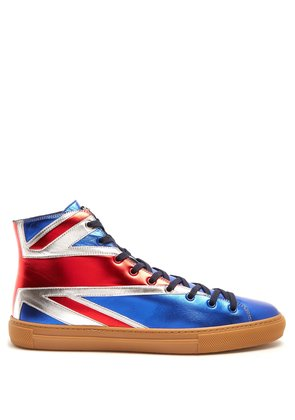 Major high-top leather trainers