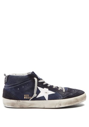 Mid Star mid-top leather trainers