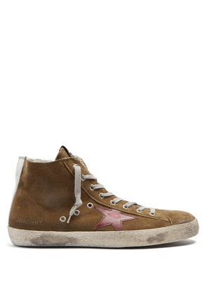 Francy high-top suede trainers