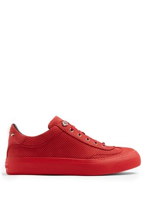 Ace perforated-effect low-top nubuck trainers