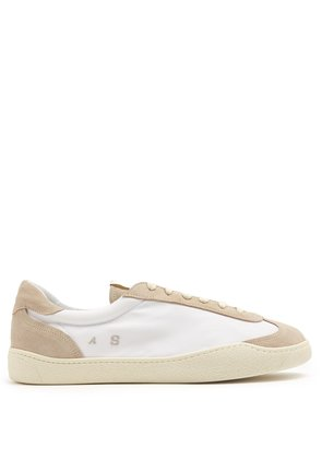 Lars bi-colour low-top nylon and suede trainers