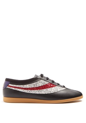 Falacer grained-leather low-top trainers