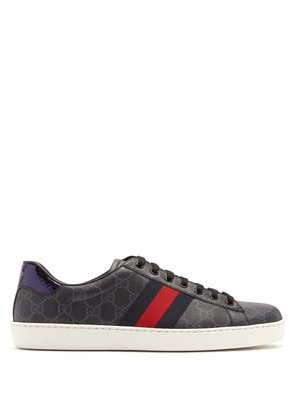 New Ace GG Supreme canvas low top trainers