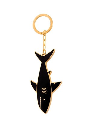 SHARK BRASS KEY RING