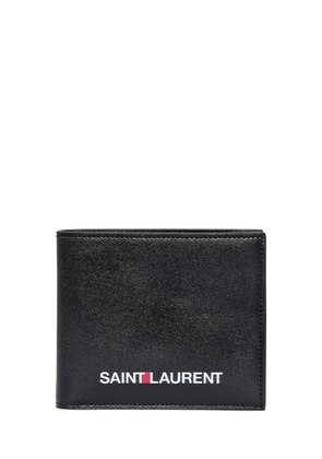 LOGO PRINTED LEATHER CLASSIC WALLET