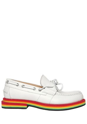 RAINBOW SOLE NUBUCK LEATHER LOAFERS