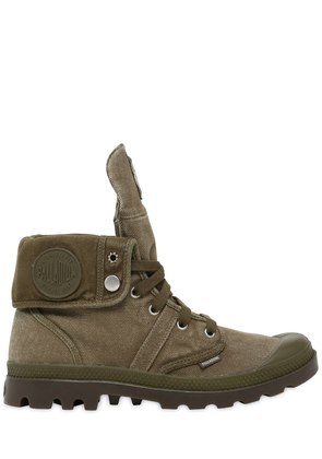 PALLABROUSE BAGGY WASHED CANVAS BOOTS
