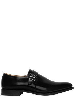LISBON BRUSHED LEATHER MONK STRAP SHOES