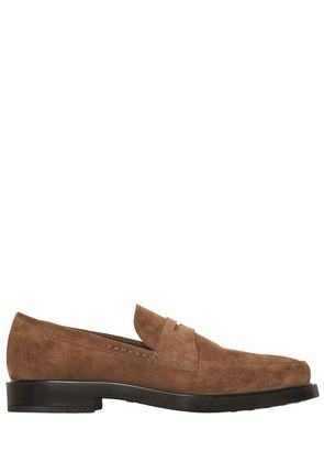 SUEDE PENNY LOAFERS