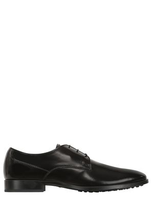 BRUSHED LEATHER DERBY LACE-UP SHOES