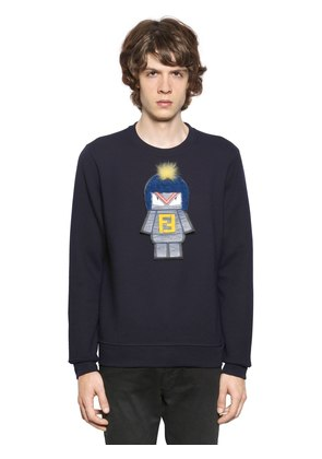 MONSTER PATCH COTTON SWEATSHIRT