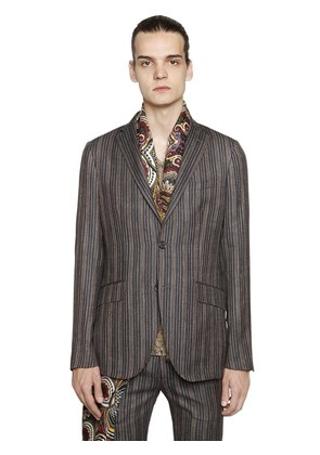STRIPE COOL WOOL JACQUARD JACKET