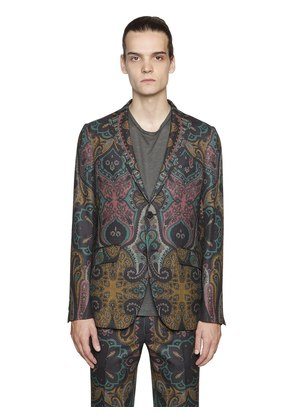 PAISLEY COOL WOOL JACQUARD JACKET