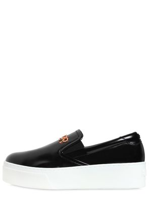 40MM K-PY BRUSHED FAUX LEATHER SNEAKERS
