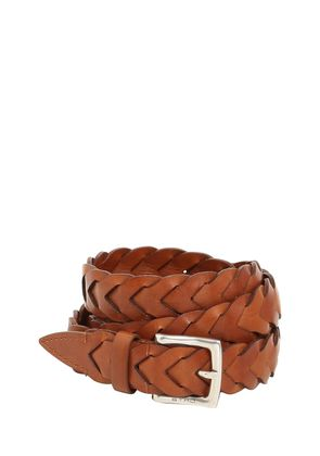 25MM WOVEN LEATHER BELT