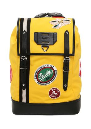 CANVAS BACKPACK W/ PATCHES