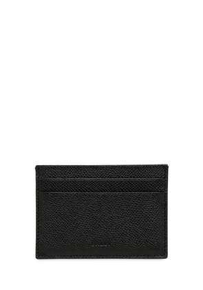 PEBBLED LEATHER CREDIT CARD HOLDER