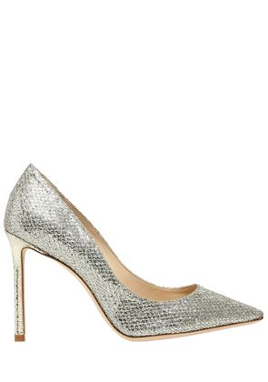 100MM ROMY GLITTER & NET LACE PUMPS