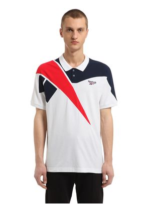 RETRO COTTON PIQUÉ POLO SHIRT