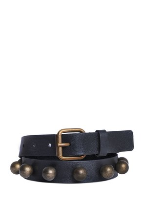 25MM STUDDED NAPPA LEATHER BELT