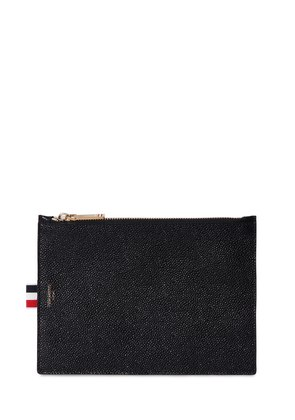 EXTRA SMALL PEBBLED LEATHER ZIP POUCH