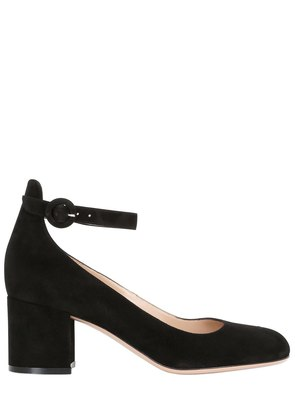 60MM MARY JANE SUEDE PUMPS