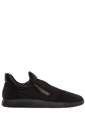 MICRO STUDDED SUEDE RUNNING SNEAKERS