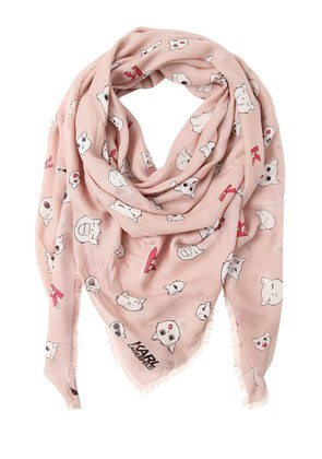 CHOUPETTE PRINTED MODAL & SILK SCARF