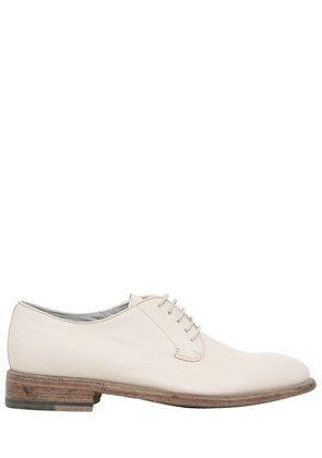 LACE-UP  DERBY LEATHER SHOES