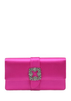 CAPRI SWAROVSKI SILK SATIN CLUTCH