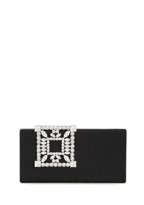 LAKA SWAROVSKI SILK SATIN CLUTCH