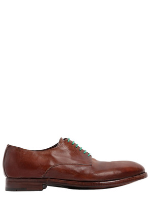 ORGANIC LEATHER LACE-UP SHOES