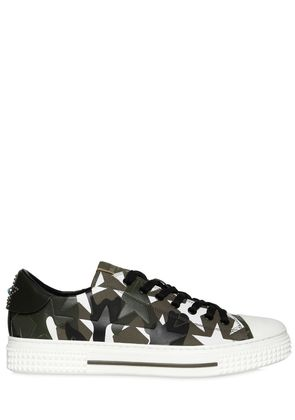 CAMUSTARS LEATHER & CANVAS SNEAKERS