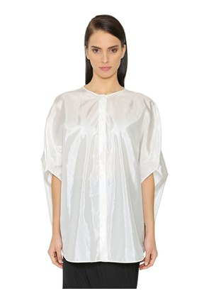 OVERSIZED SILK BLEND SATIN SHIRT
