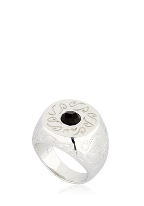 ARA ENGRAVED RING WITH ONYX