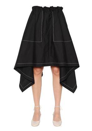 ASYMMETRIC LIGHT COTTON POPLIN SKIRT
